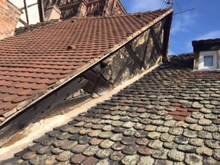 Ravalement Pignon maison alsacienne Avant