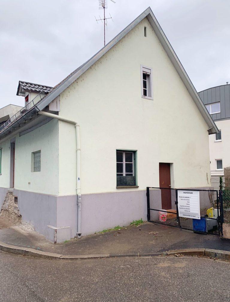 Maison Robertsau avant projet d'agrandissement